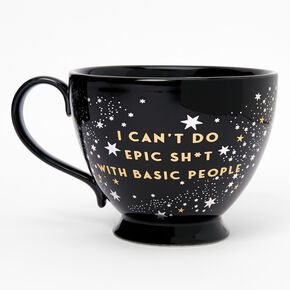 Black Ceramic Zodiac Mug - Aquarius,
