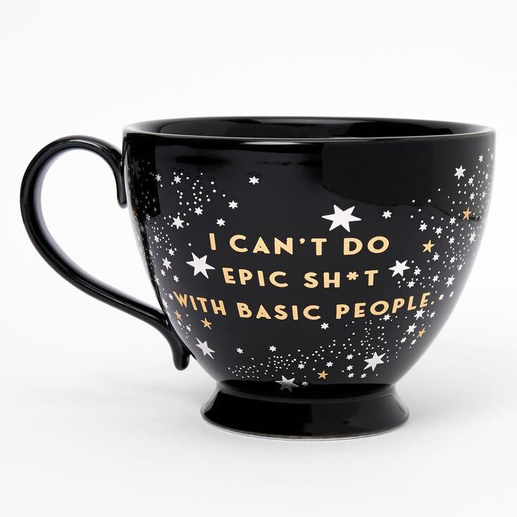 Black Ceramic Zodiac Mug - Aquarius,