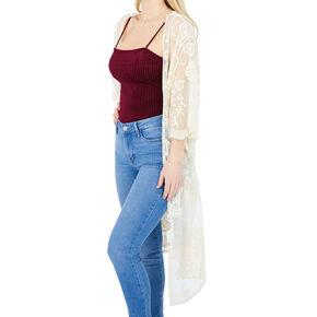 Lace Kimono - White,