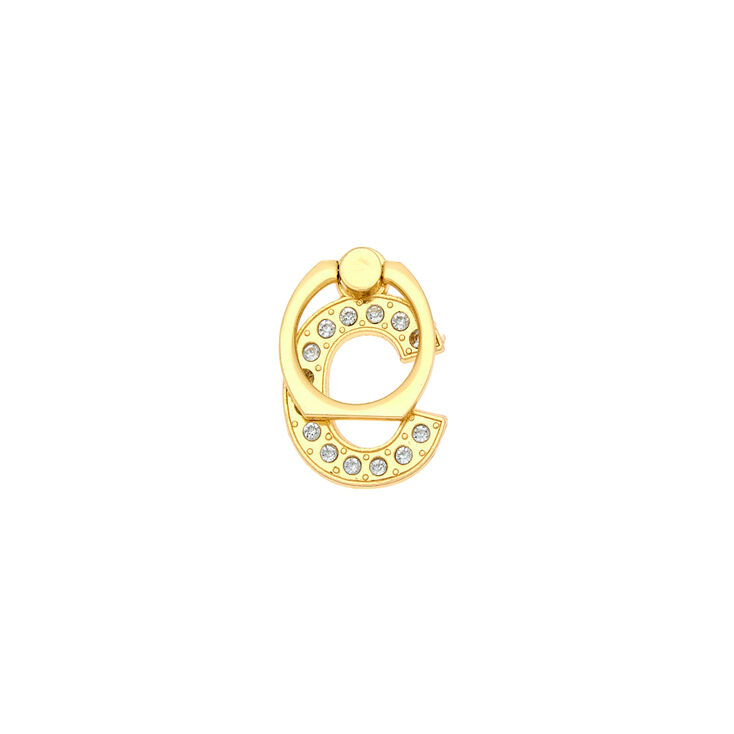 Gold Initial Ring Stand - C,