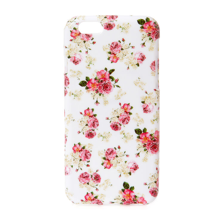 English Floral Soft Phone Case,