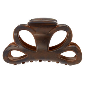 Dark Wood Open Cut Hair Claw,