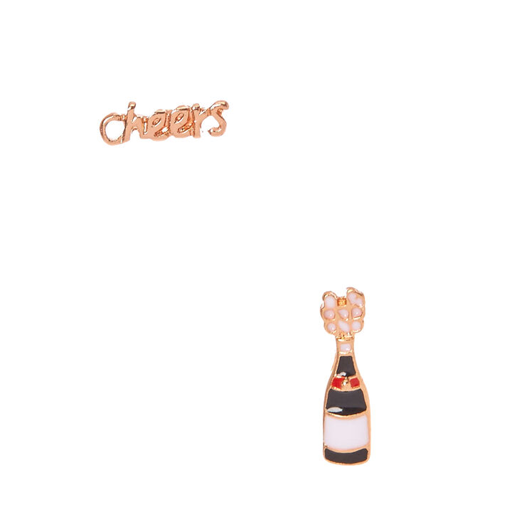 18Kt Gold Plated Cheers To Champagne Earrings,