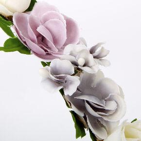 Spring Blues Flower Headband - Purple,