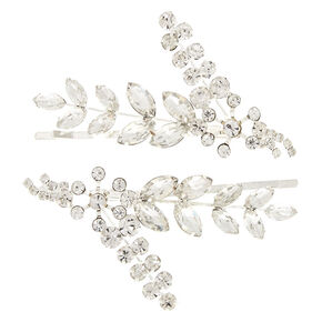Silver Leaf Bobby Pins - 2 Pack,