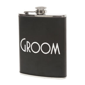Black Groom Flask,