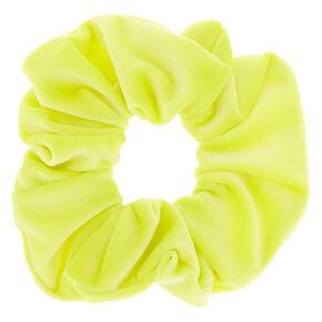Velvet Hair Scrunchie - Neon Yellow,
