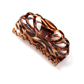Scalloped Glitter Tortoise Shell Claw Clip,