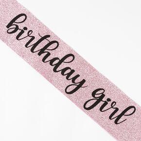 Birthday Girl Glitter Sash - Pink,