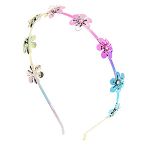 Rainbow Flower Headband,