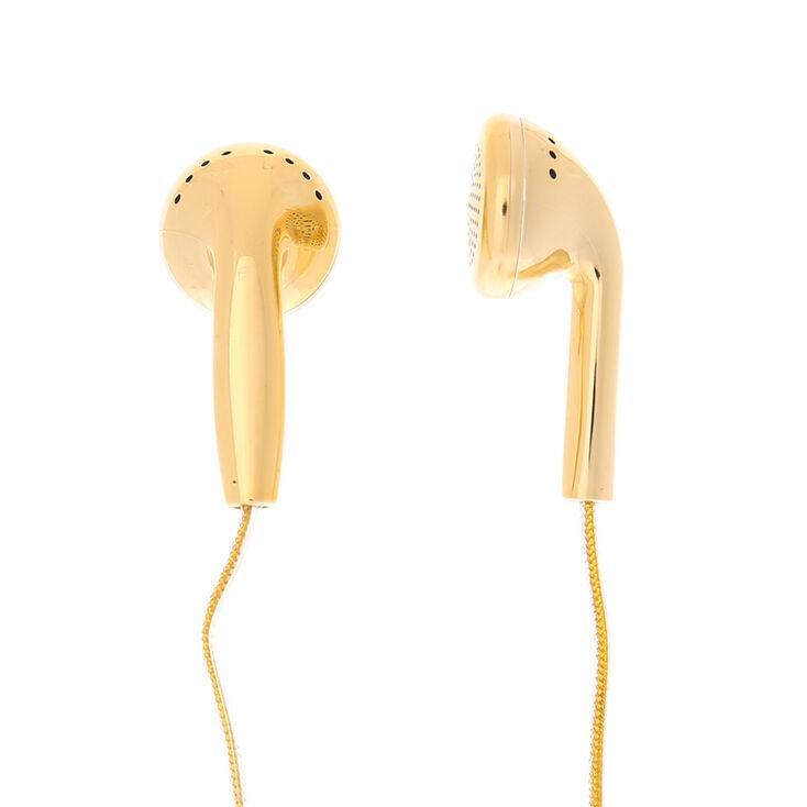 Gold Metallic Earbuds,