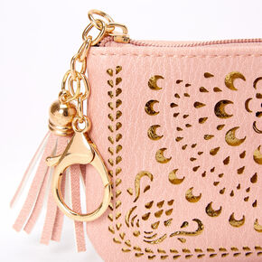 Filigree Cutout Coin Purse - Pink,