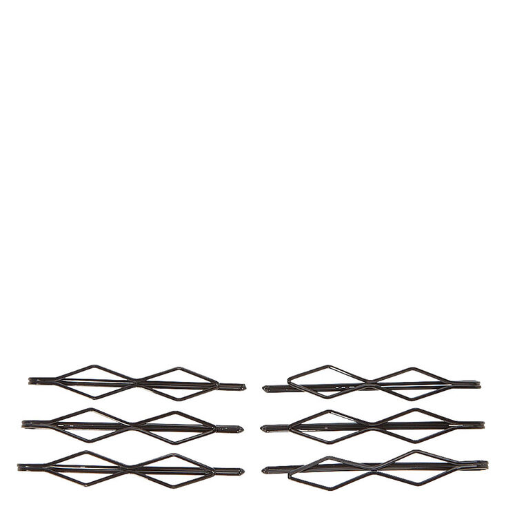 Black Double Diamond Bobby Pins,