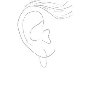 Silver Graduated Hoop Earrings - 3 Pack,