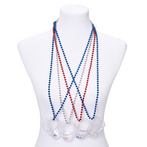 USA Shot Glass Necklaces - 4 Pack,