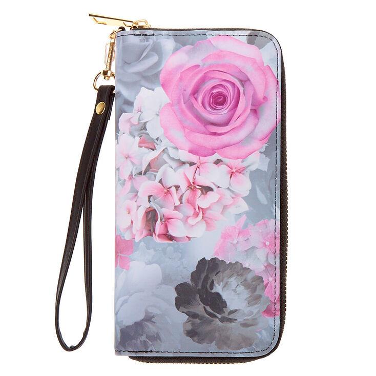 Floral Wristlet - Gray,