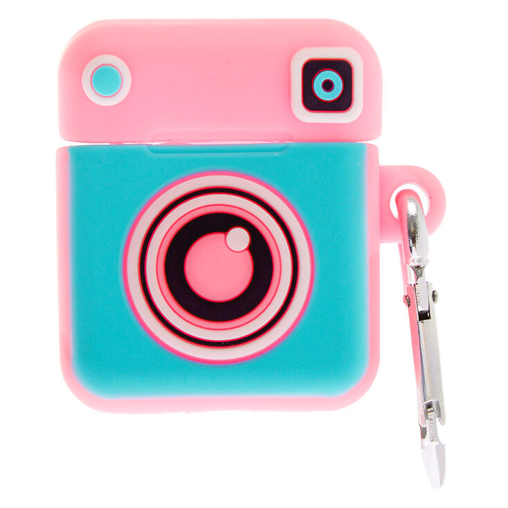 Camera Silicone Earbud Case Cover - Compatible With Apple AirPods,