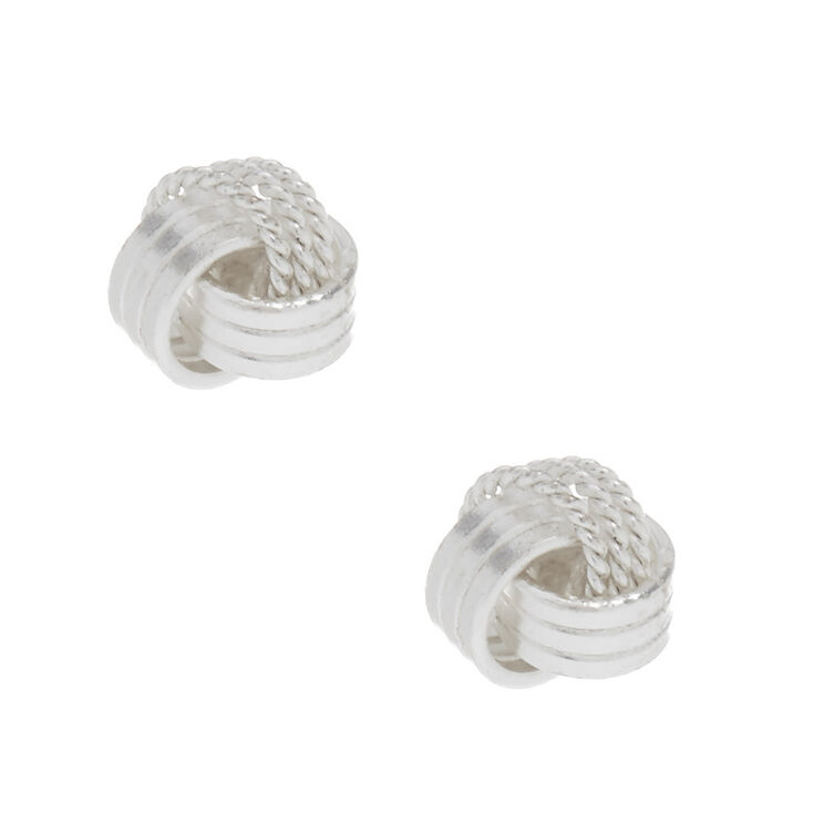 Sterling Silver Knot Stud Earrings,