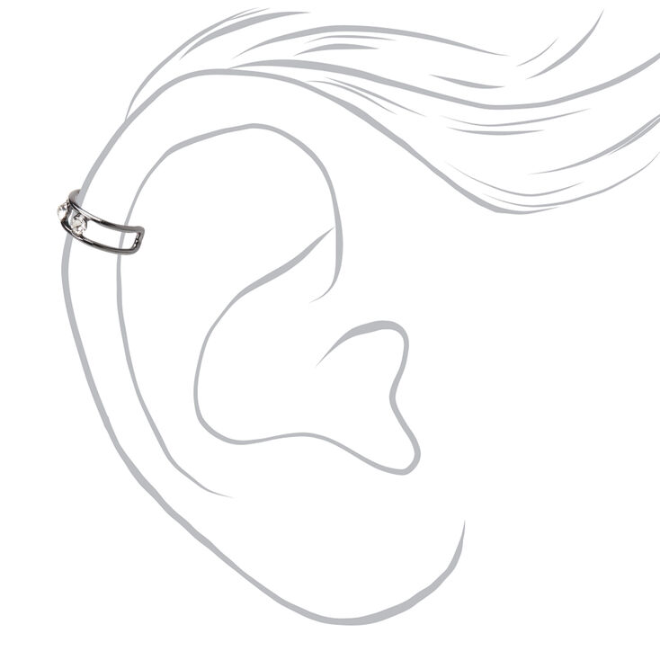 Mixed Metal Triple Crystal Ear Cuffs - 3 Pack,