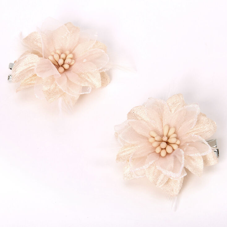 Real Flower Hair Clips