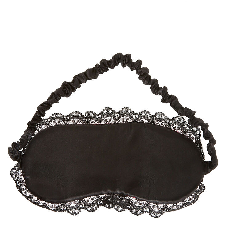 Glittery Black Lashes Hot Pink Sleeping Mask,