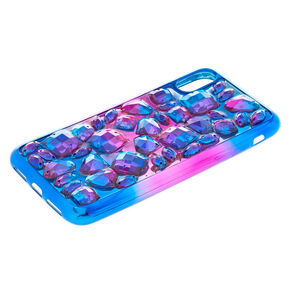 Purple Ombre Stone Phone Case - Fits iPhone X/XS,