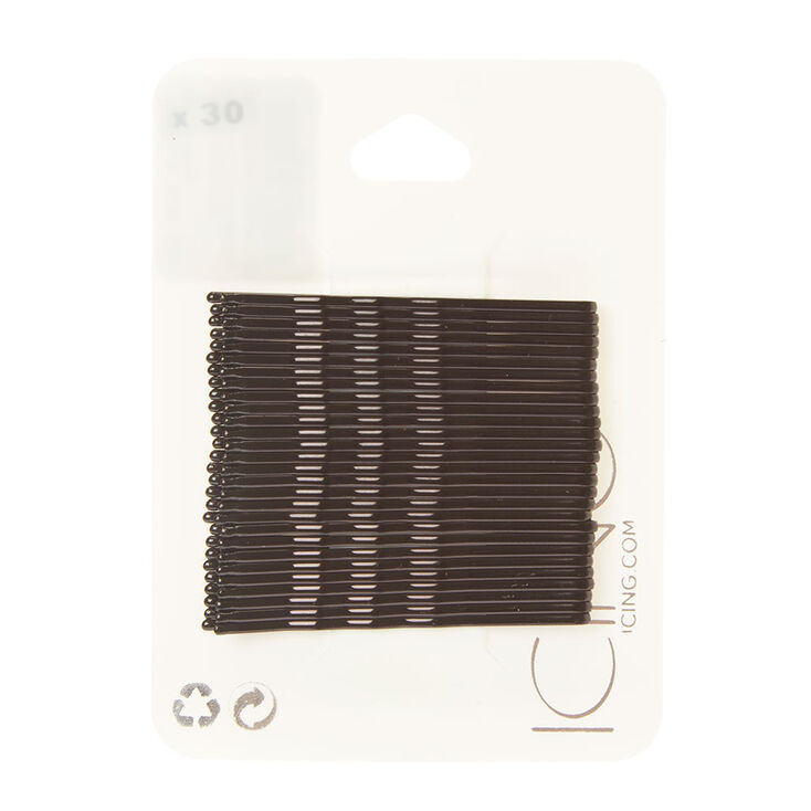 Bobby Pins - Black, 30 Pack,