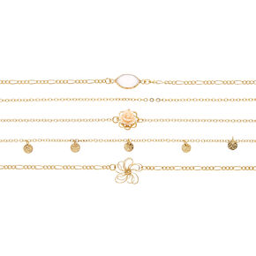 Multi-Floral Chain Choker Set,