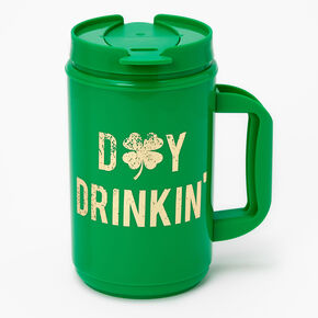 Day Drinkin' Plastic Mug - Green,