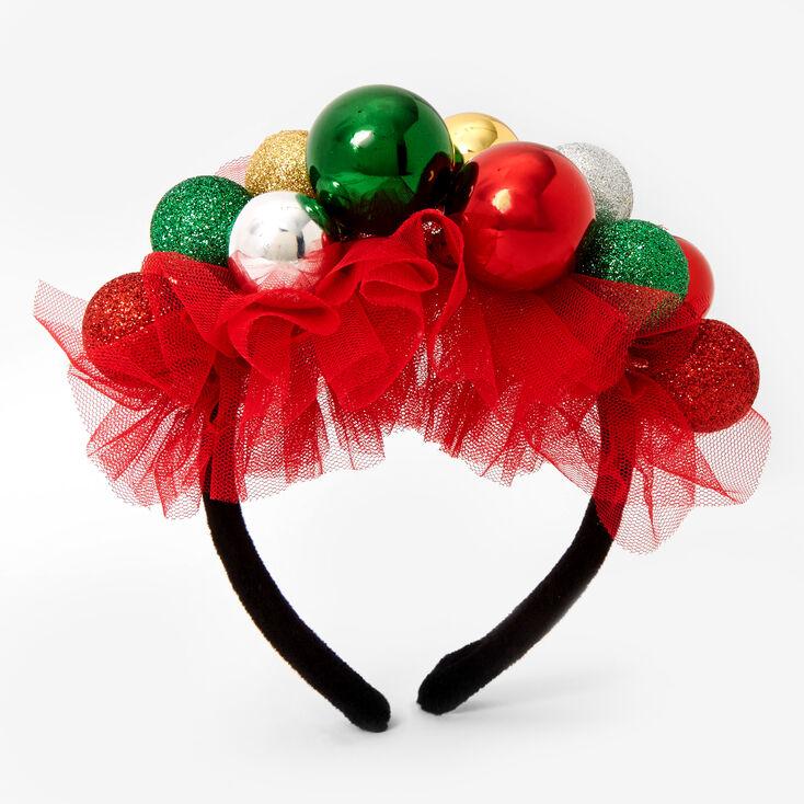 Jingle Bell Ornament Tulle Headband,
