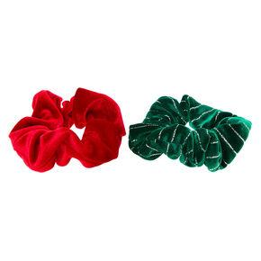 Christmas Velvet Hair Scrunchies - 2 Pack,
