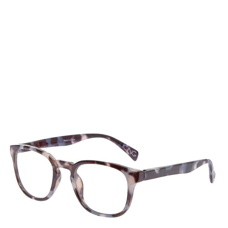9389c00502 Round Grey Tortoise Print Fake Glasses
