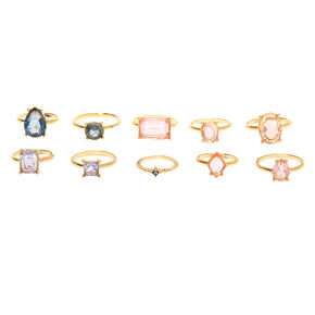 Pastel Shine Rings - 10 Pack,