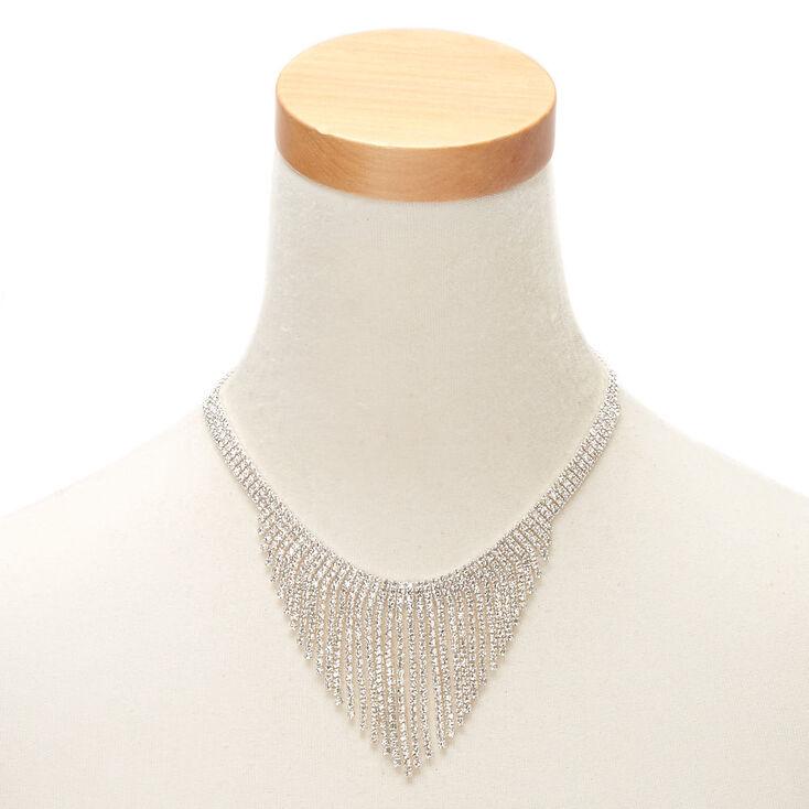 Silver Rhinestone Fringe Jewelry Set - 2 Pack,
