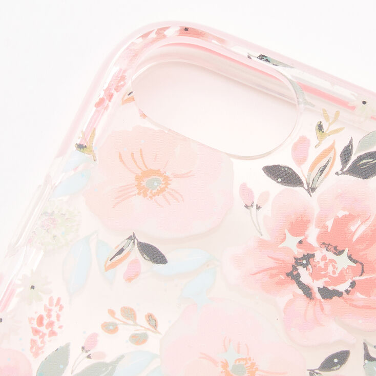Coral Floral Protective Phone Case - Fits iPhone 6/7/8/SE,