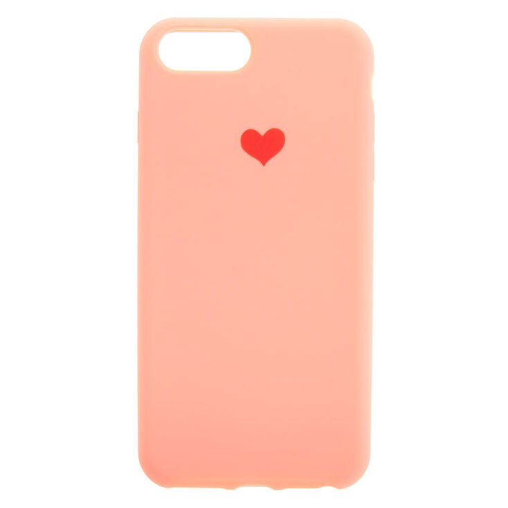 Coral Heart Phone Case - Fits iPhone 6/7/8 Plus,