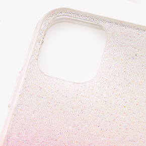 Bright Pink Ombre Caviar Glitter Phone Case - Fits iPhone 11,