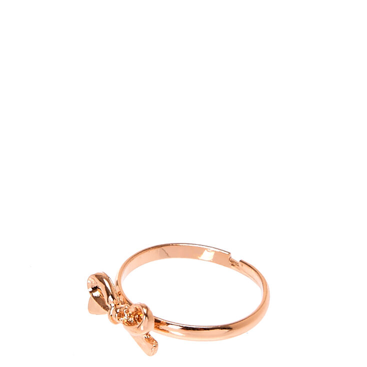 Rose Gold Bow-Tie Ring,