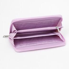 Purple Varsity Initial Wristlet - L,