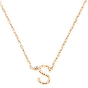 Gold Initial Necklace - S,