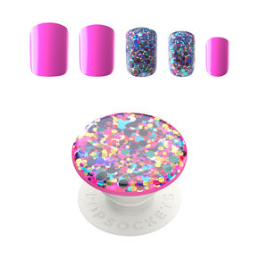 PopSockets PopGrip & Press On Faux Nail Set - Confetti Party,