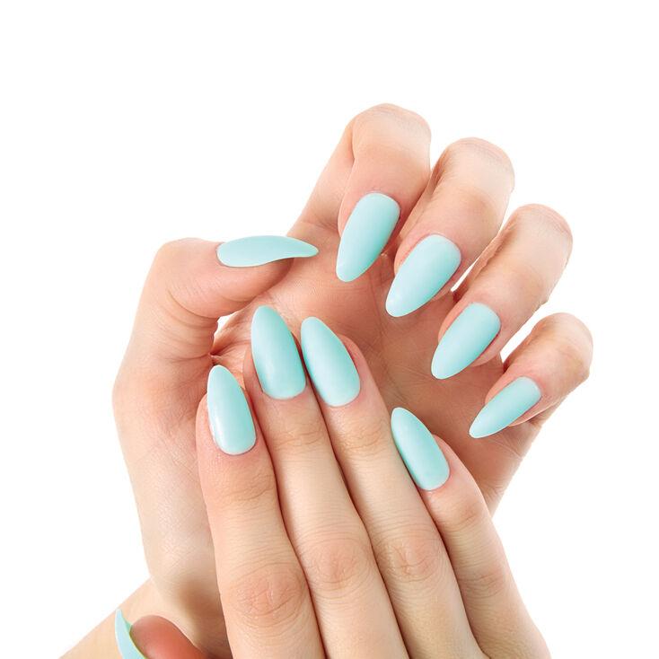 Mint Matte Stiletto Instant Nails,