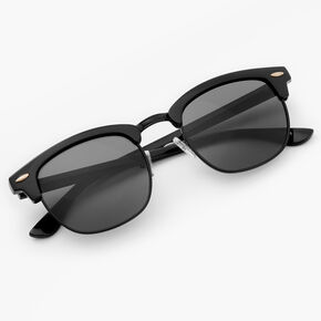 Retro Browline Sunglasses - Black,