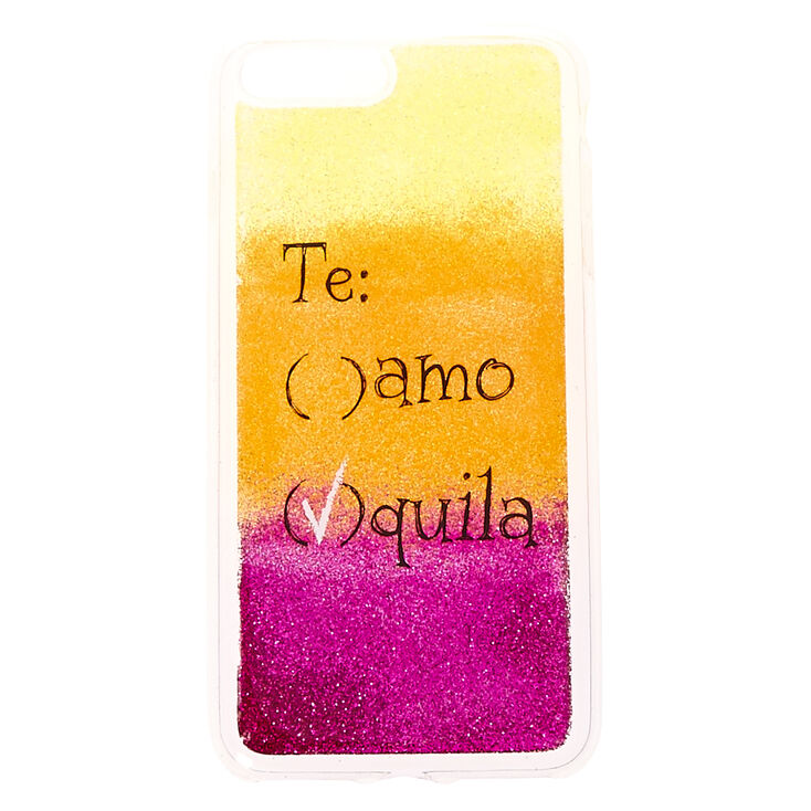 Te Amo Tequila Glitter Phone Case - Fits iPhone 6/7/8 Plus,