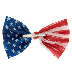American Flag Hair Bow Clip,