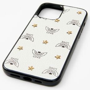 Black & White Love WingsPhone Case - Fits iPhone® 12 Pro Max,