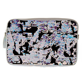 Velvet Reverse Sequin Laptop Carrying Case - Black,