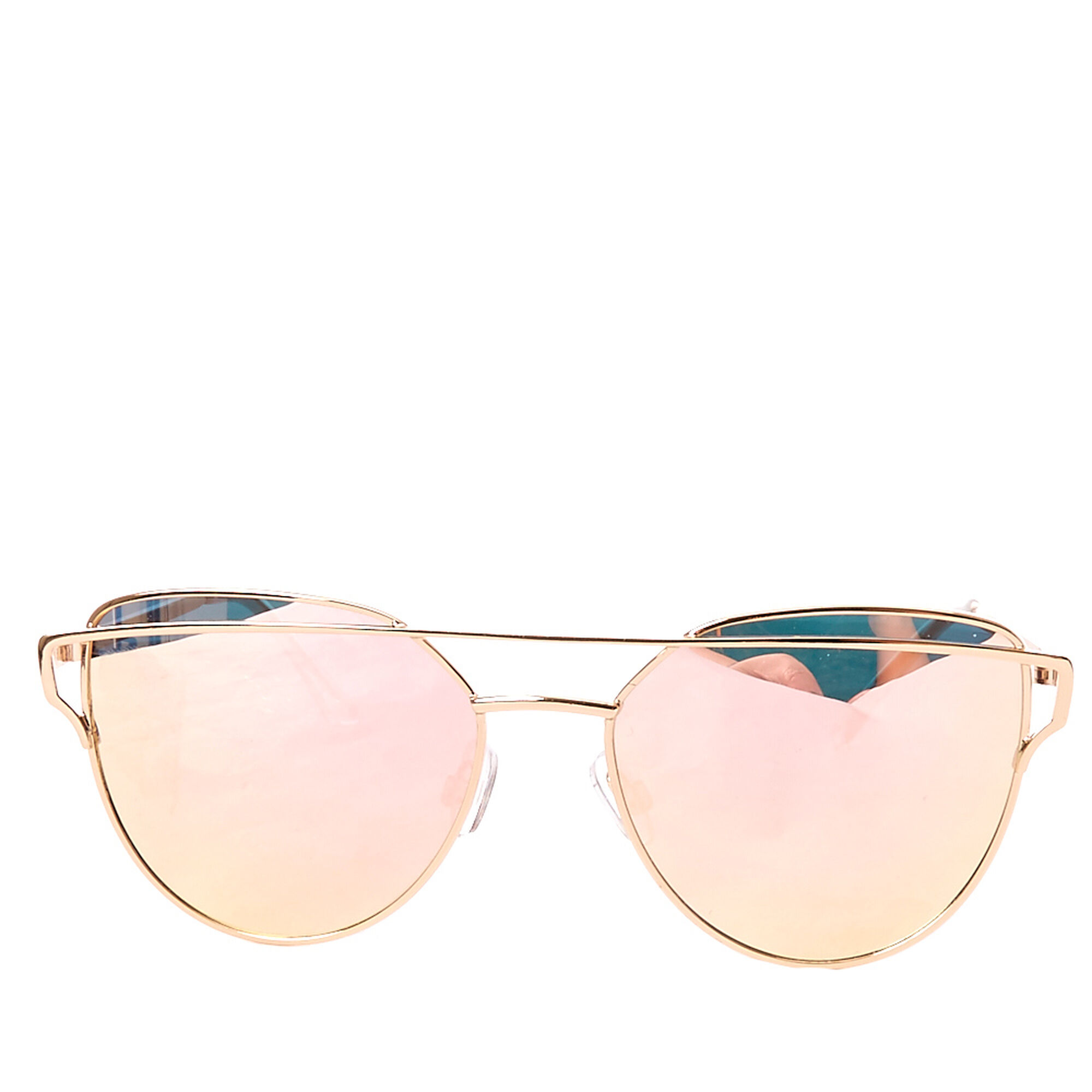 c9e51bbd047 ... Rose Gold Mirrored Cat Eye Sunglasses