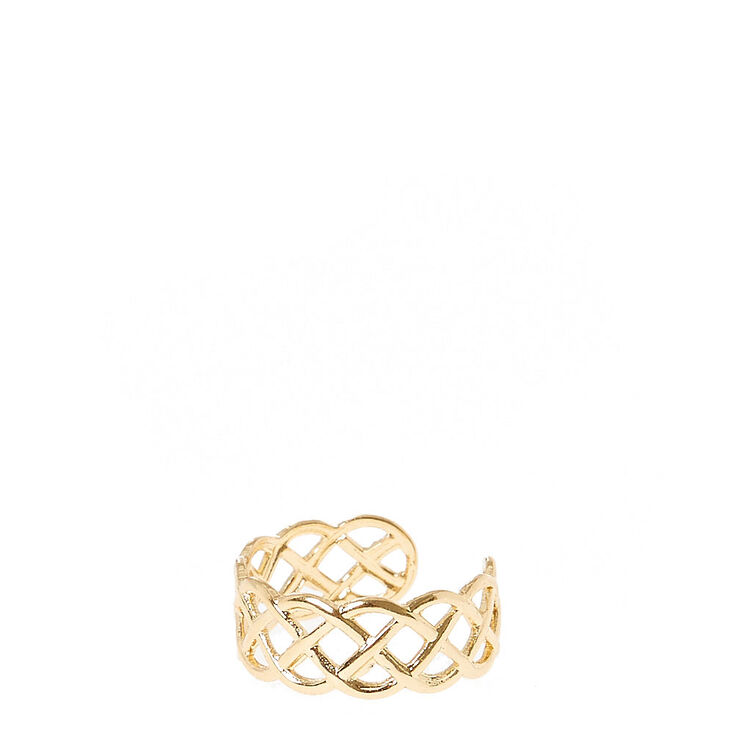 Braided Gold-Toned Toe Ring,