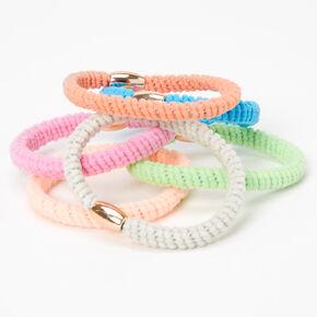 Beaded Pastel Twist Hair Ties - 6 Pack,